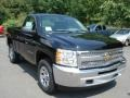 2012 Black Chevrolet Silverado 1500 LS Regular Cab 4x4  photo #2