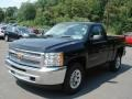 2012 Black Chevrolet Silverado 1500 LS Regular Cab 4x4  photo #4
