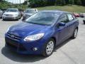 2012 Sonic Blue Metallic Ford Focus SE Sedan  photo #4