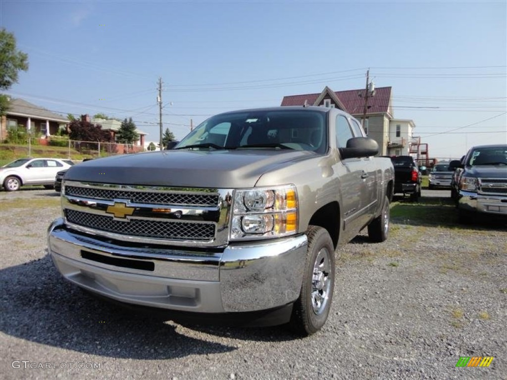 2012 Silverado 1500 LS Extended Cab - Graystone Metallic / Dark Titanium photo #2