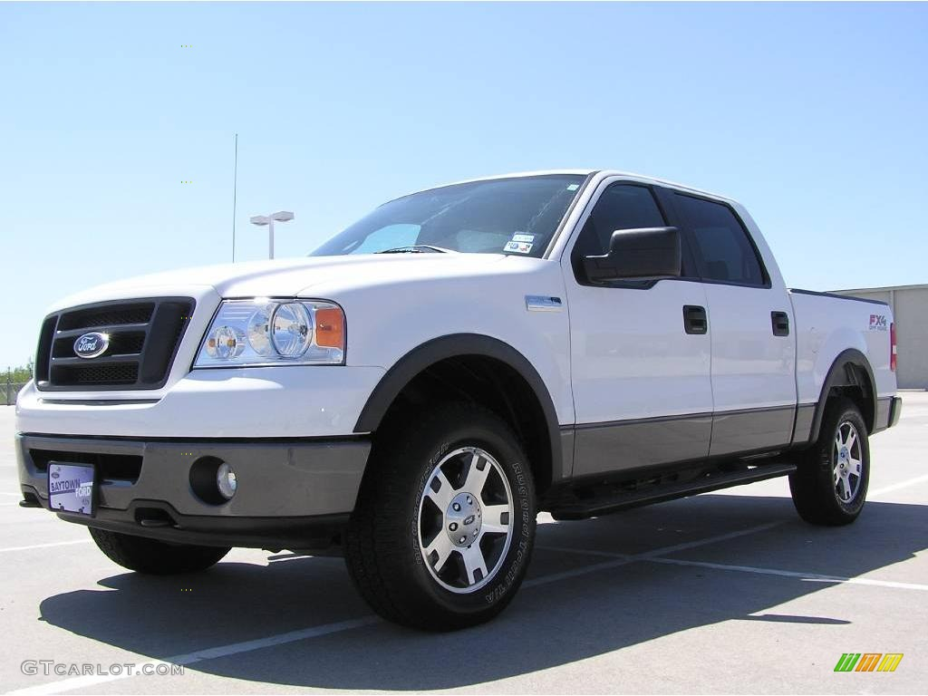 2007 f150 fx4 supercrew 4x4 oxford white black medium flint photo 1