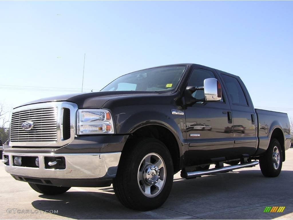 2007 dark stone metallic ford f250 super duty lariat crew cab 6562581 car. Black Bedroom Furniture Sets. Home Design Ideas