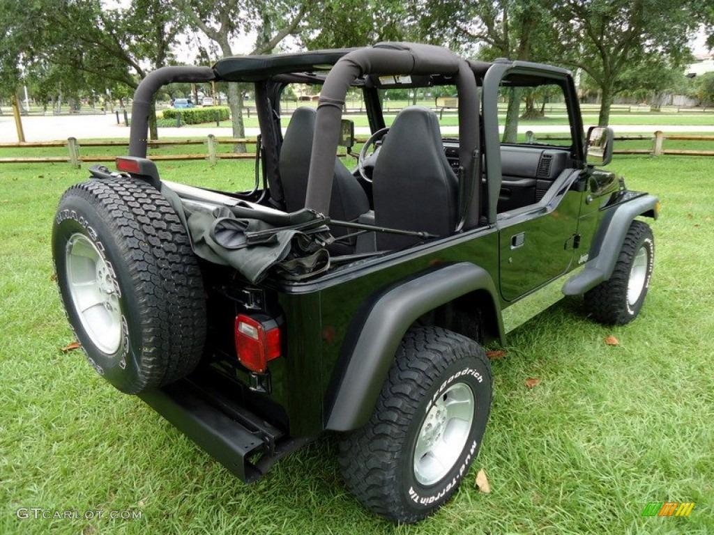 Jeep Wrangler Black Wheels Black 2000 Jeep Wrangler Sport 4x4 Exterior Photo #67051929 | GTCarLot ...