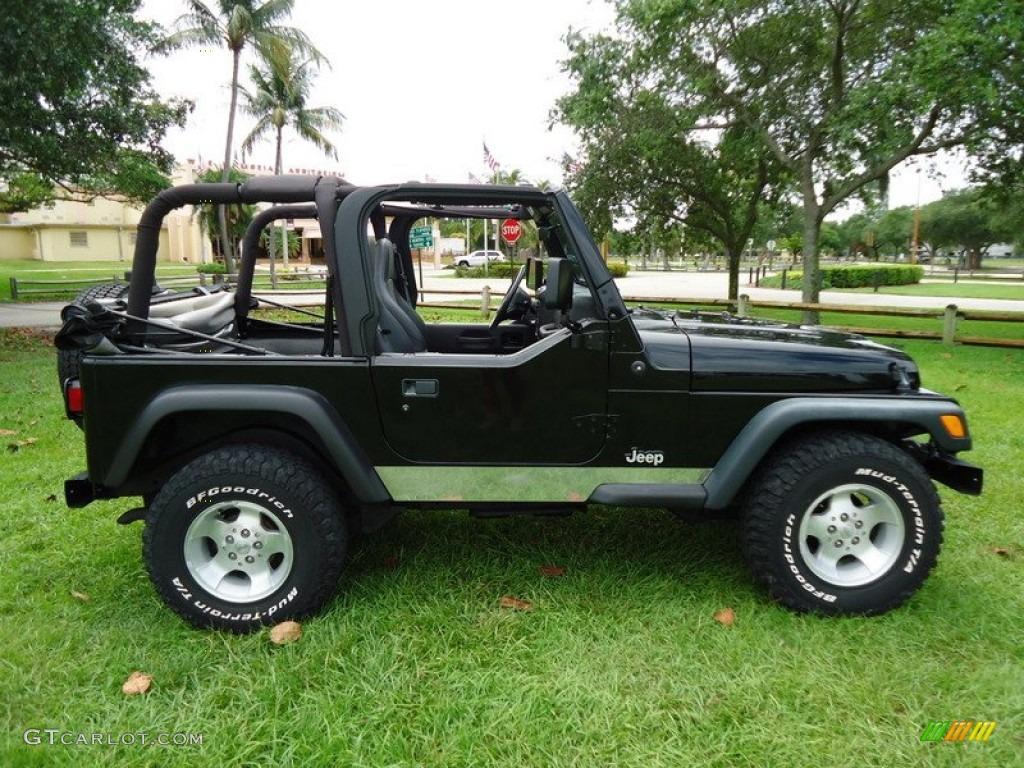 Black 2000 Jeep Wrangler Sport 4x4 Exterior Photo