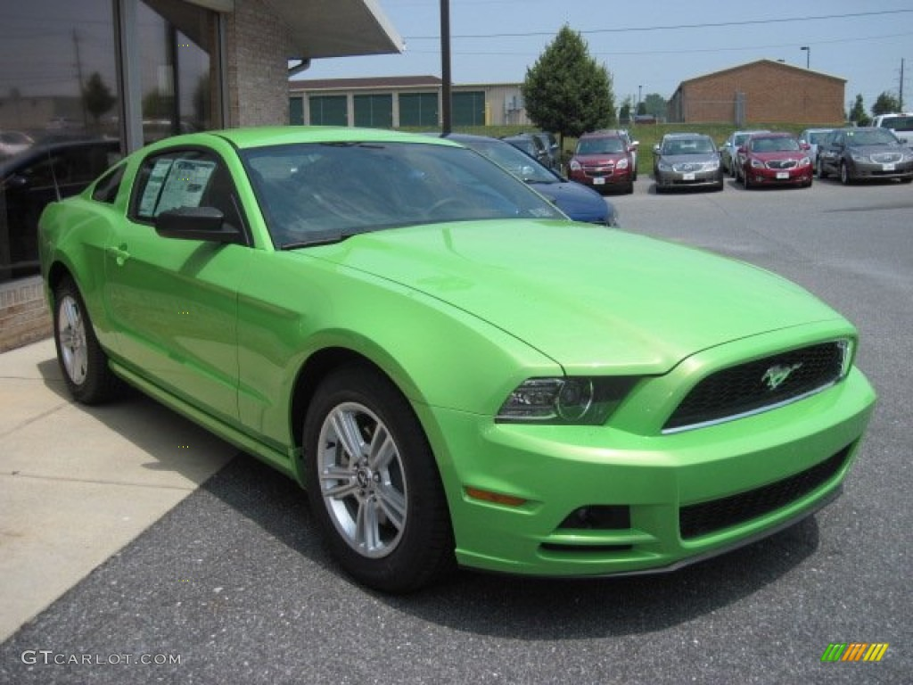 gotta have it green 2013 ford mustang v6 coupe exterior. Black Bedroom Furniture Sets. Home Design Ideas