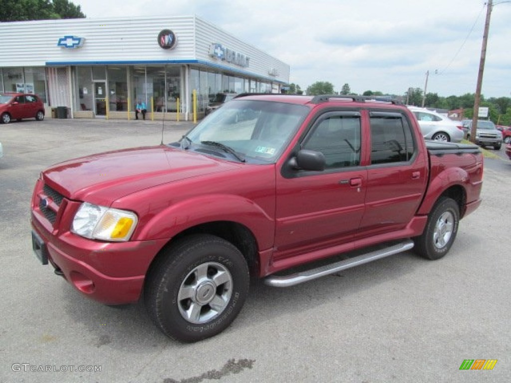 Red fire metallic ford explorer sport trac