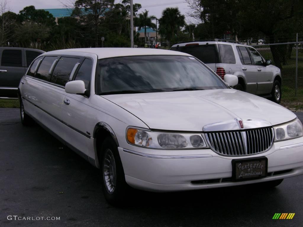 2001 town car dabryan limousine vibrant white light graphite photo 1