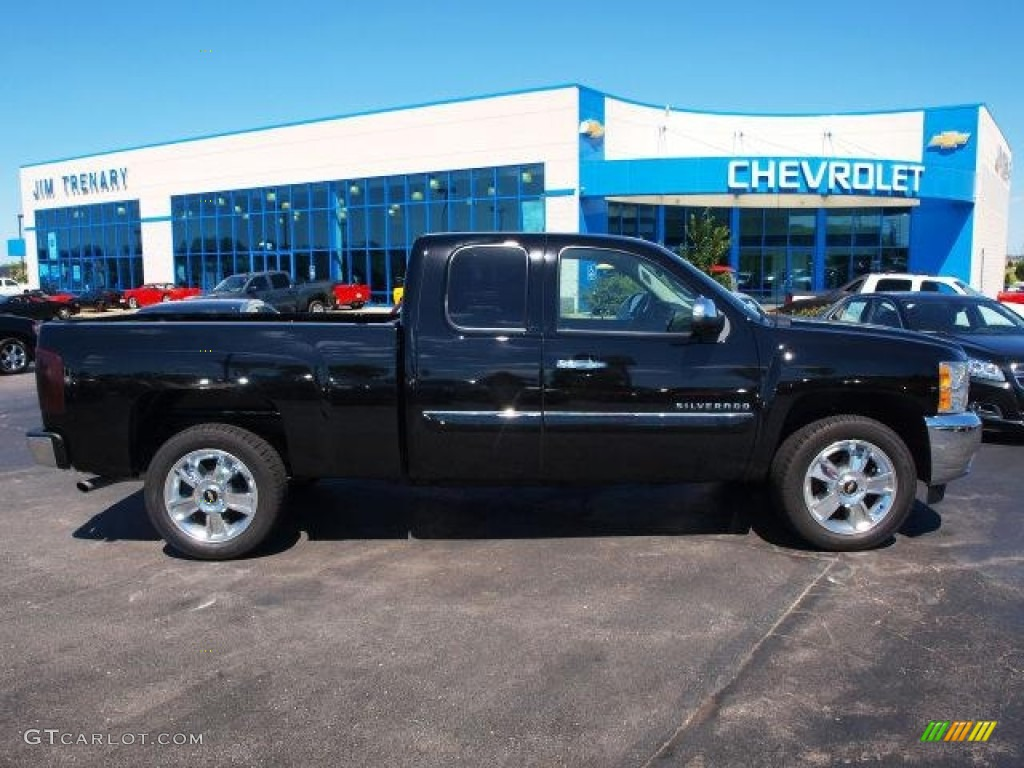 2012 Silverado 1500 LT Extended Cab - Black / Ebony photo #1