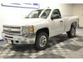 2012 Summit White Chevrolet Silverado 1500 LT Regular Cab 4x4  photo #2
