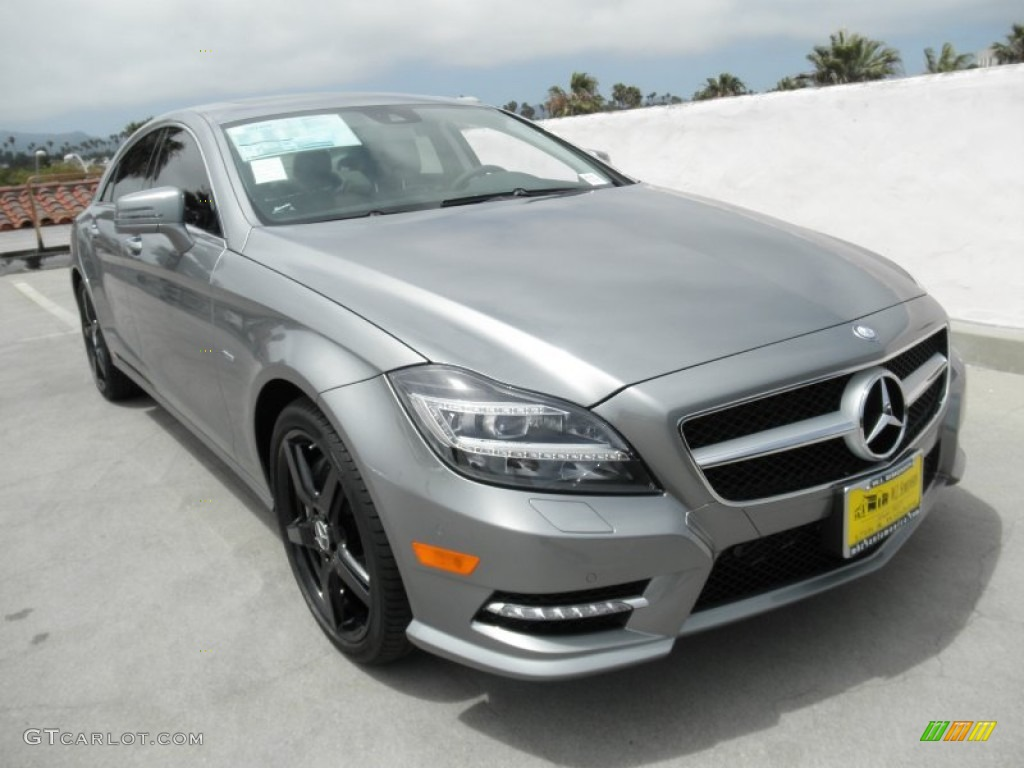2012 palladium silver metallic mercedes benz cls 550 coupe for Mercedes benz silver