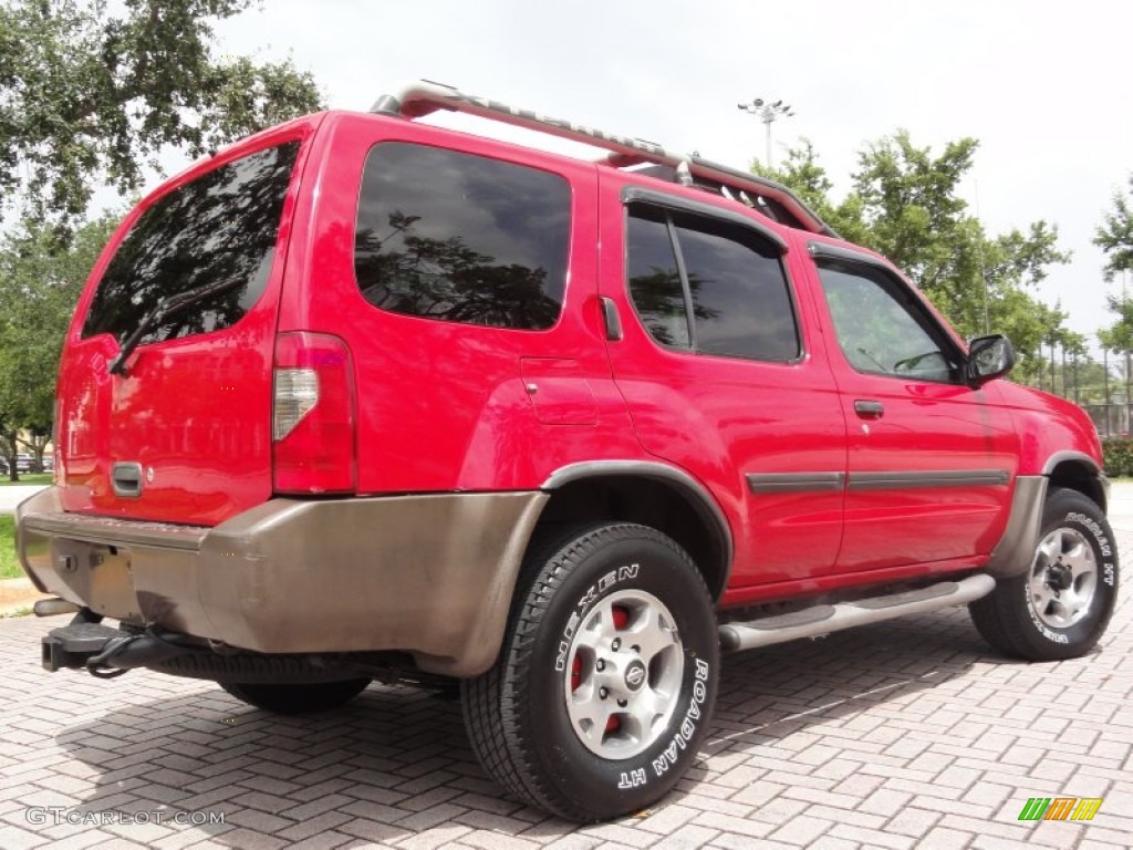 aztec red 2000 nissan xterra se v6 4x4 exterior photo. Black Bedroom Furniture Sets. Home Design Ideas