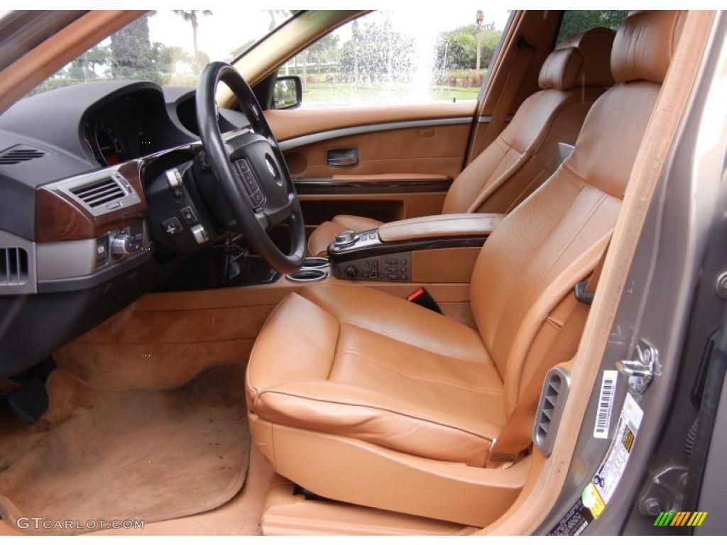 Natural Brown Interior 2007 BMW 7 Series 750Li Sedan Photo 67121894