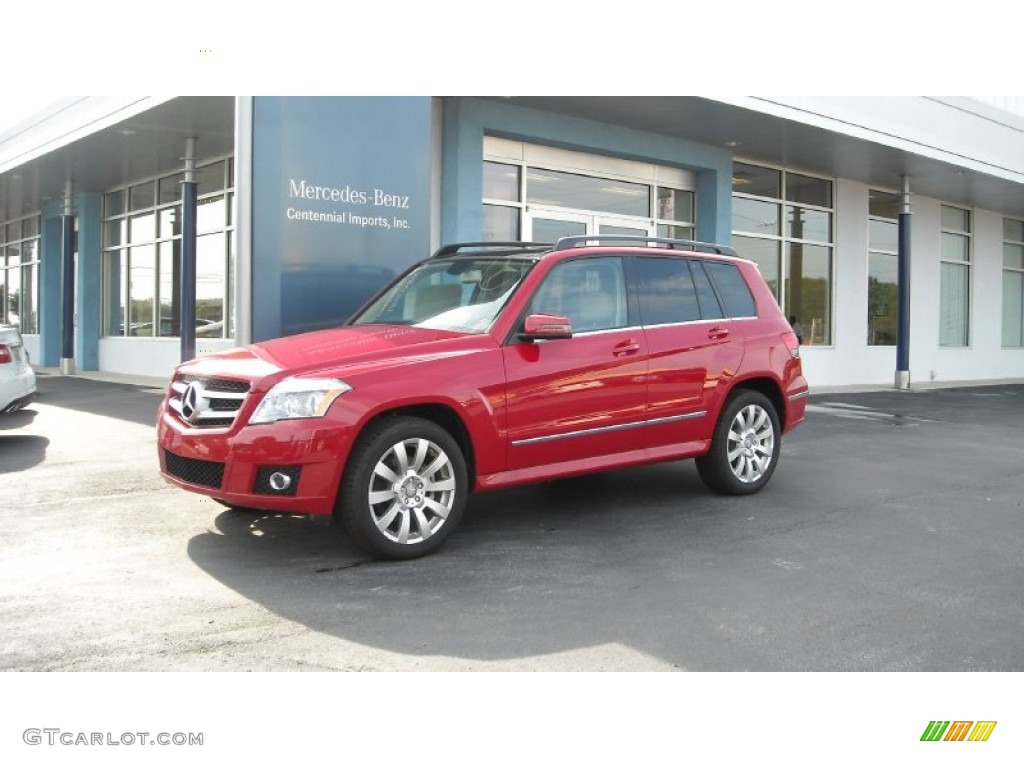 2012 Mars Red Mercedes Benz Glk 350 4matic 67104502 Photo
