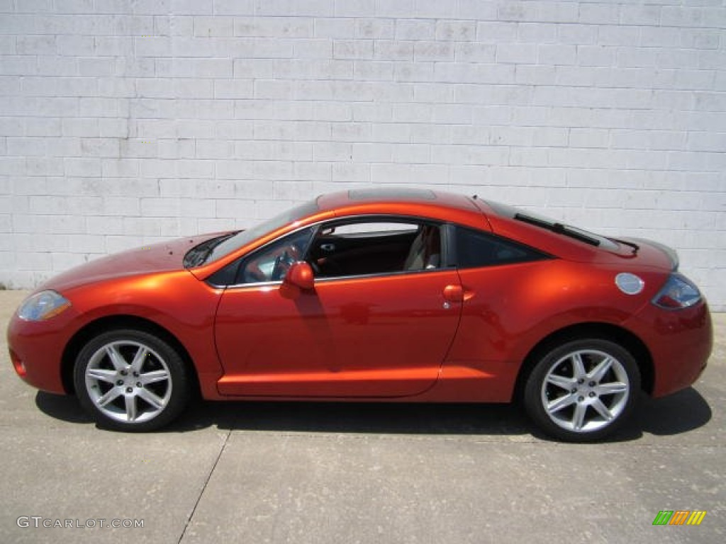 Sunset Orange Pearlescent 2006 Mitsubishi Eclipse Gt Coupe