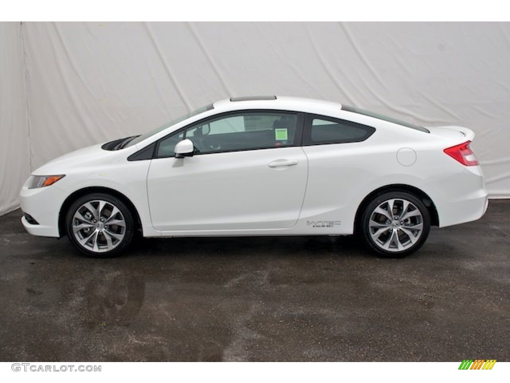 Taffeta White 2012 Honda Civic Si Coupe Exterior Photo 67150238
