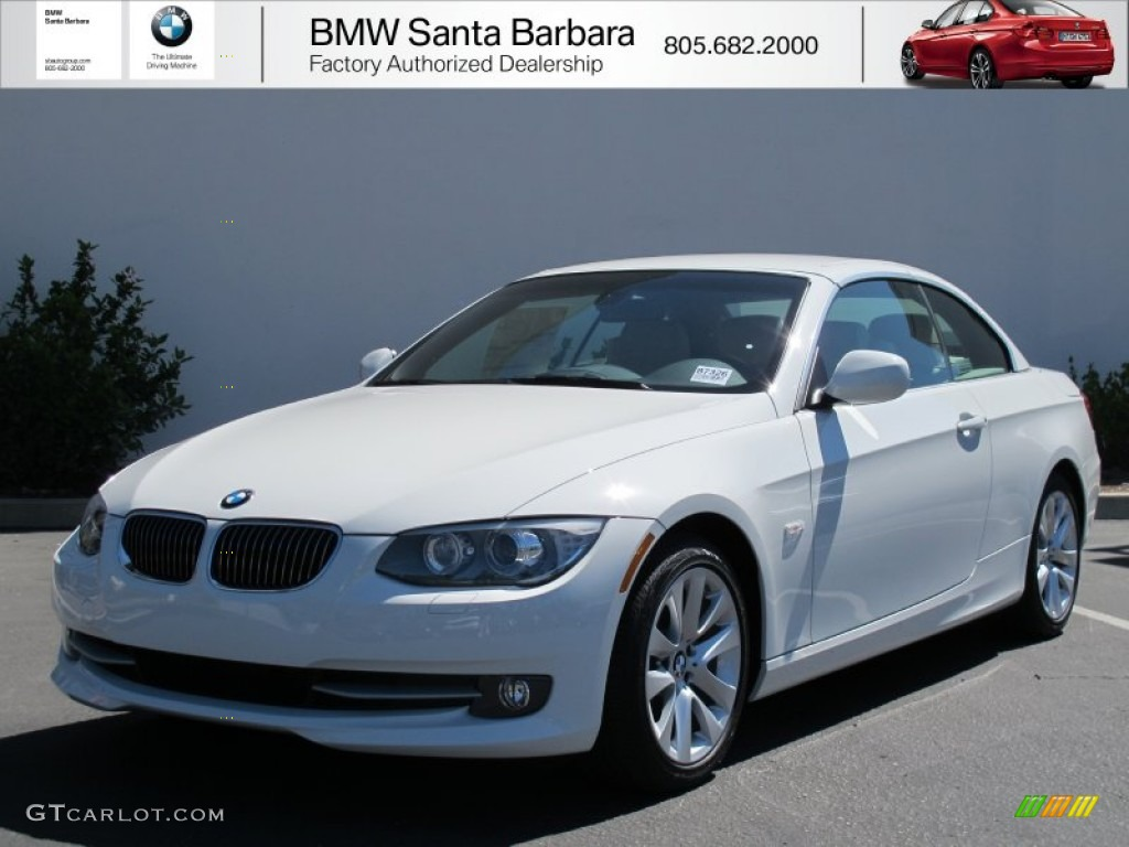 2012 3 series 328i convertible alpine white oyster black photo 1