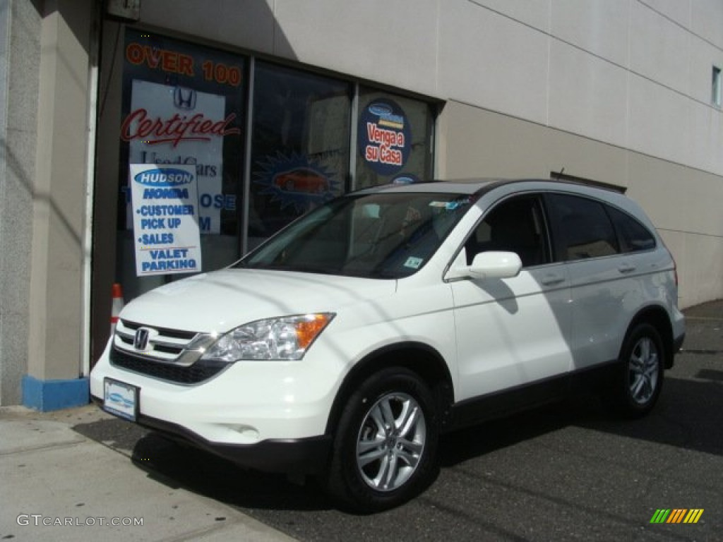 2010 CR-V EX-L AWD - Taffeta White / Gray photo #1