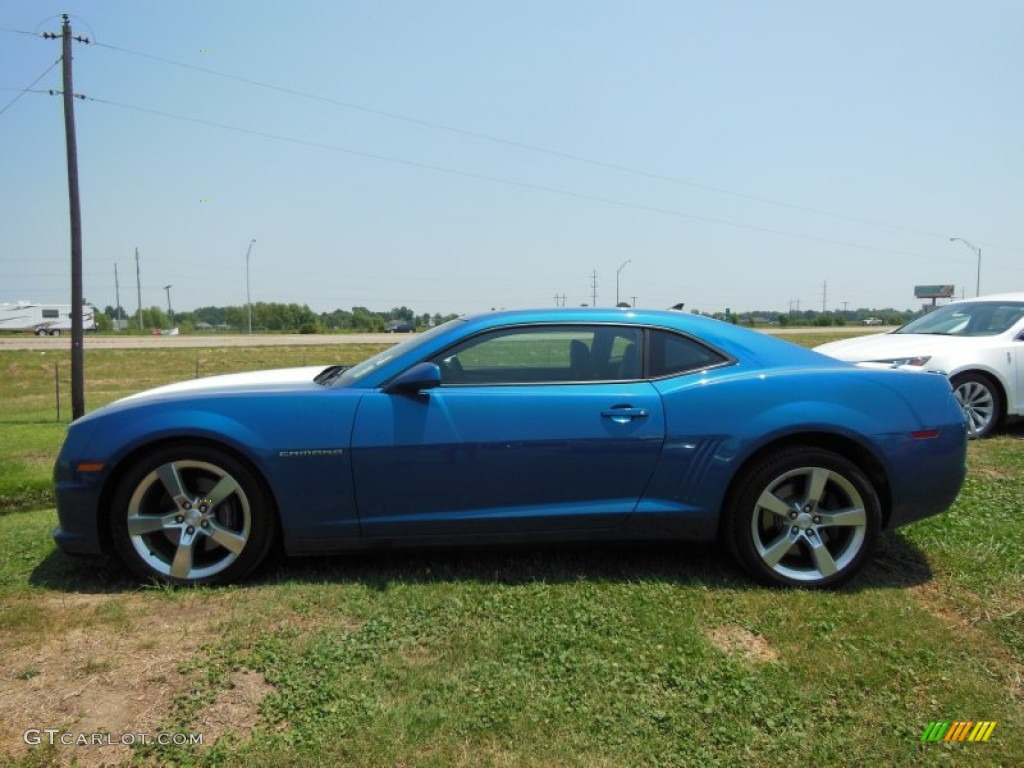 Aqua Blue Metallic 2010 Chevrolet Camaro Ss Rs Coupe