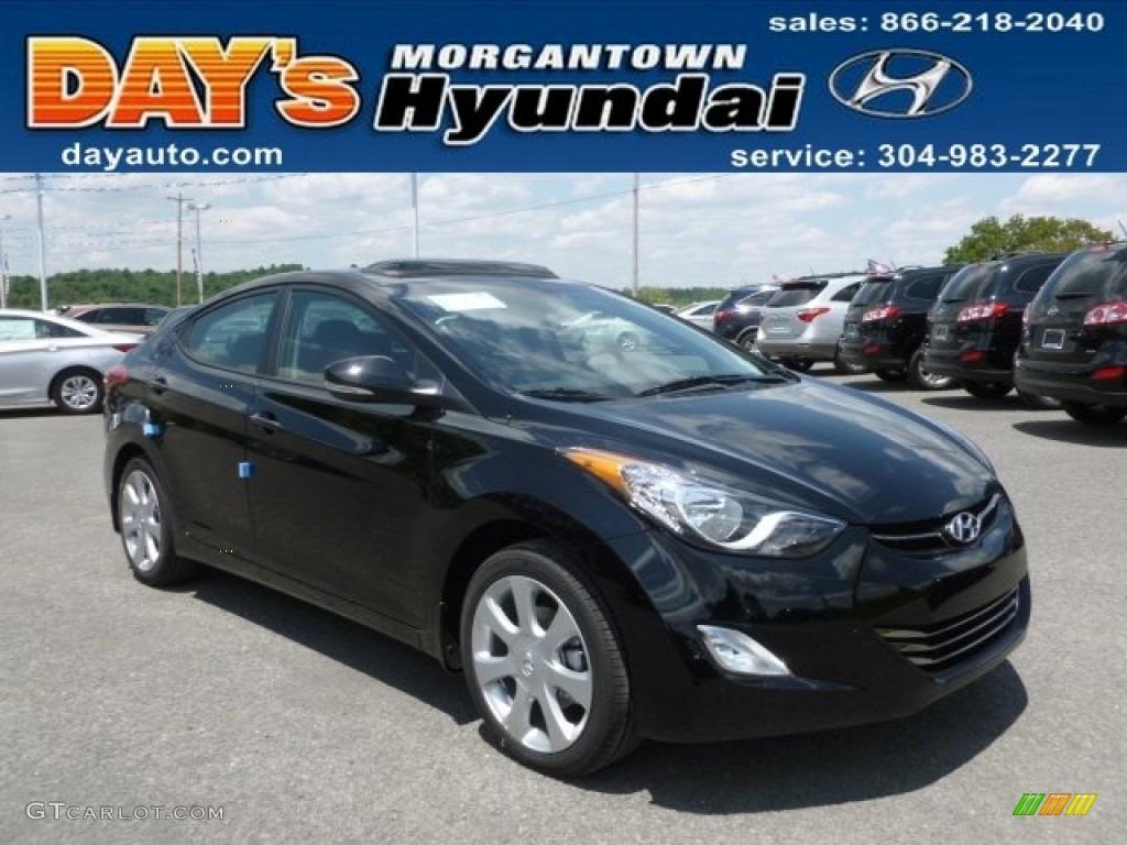 2013 Black Hyundai Elantra Limited 67147607 Gtcarlot
