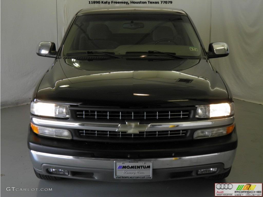 2002 Silverado 1500 LS Extended Cab - Onyx Black / Tan photo #18
