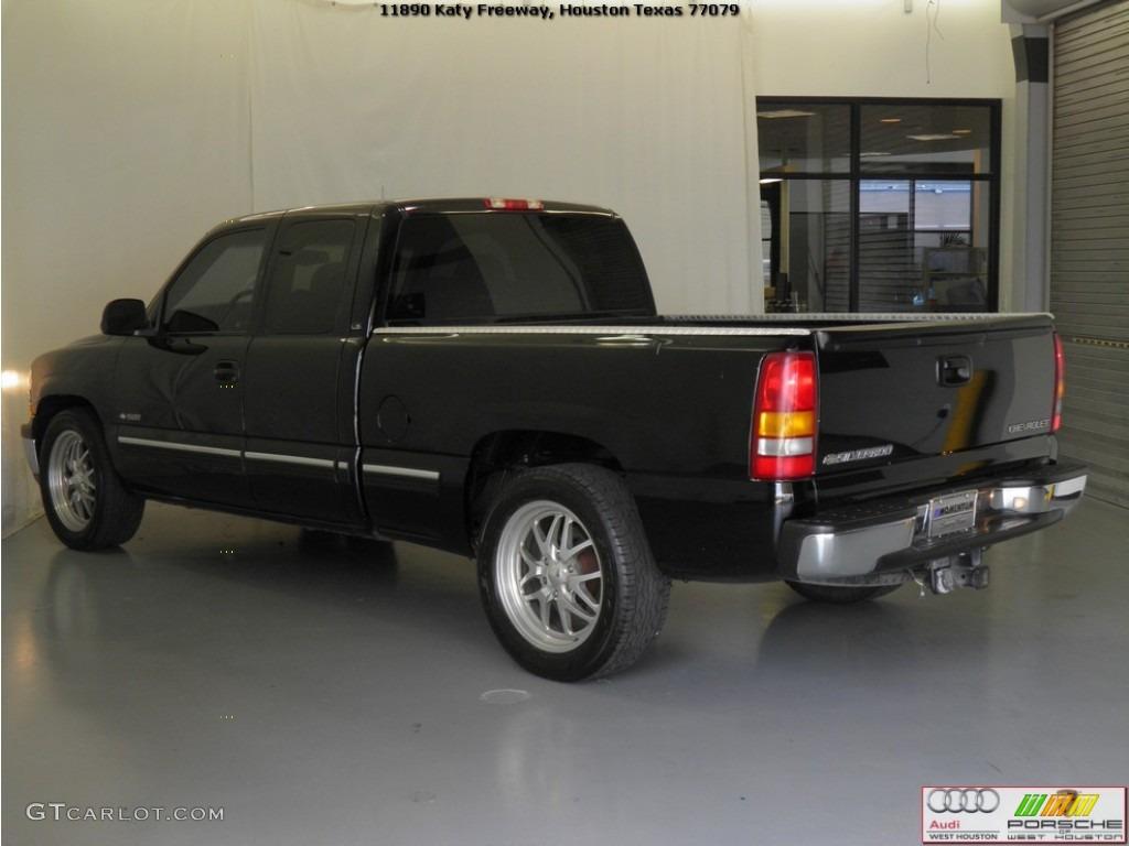 2002 Silverado 1500 LS Extended Cab - Onyx Black / Tan photo #20