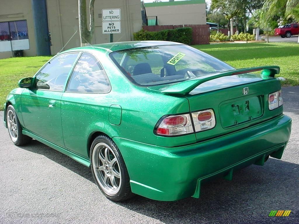 1996 custom sparkle green honda civic ex coupe 6563083 photo 3 car color. Black Bedroom Furniture Sets. Home Design Ideas