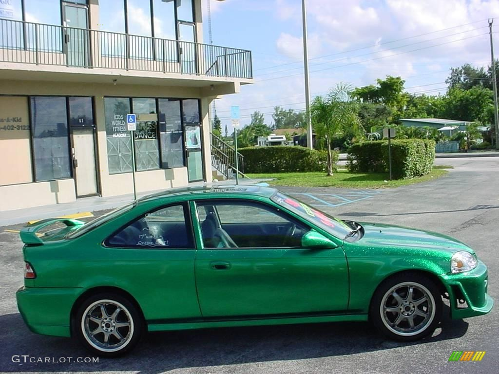 1996 custom sparkle green honda civic ex coupe 6563083 photo 6 car color. Black Bedroom Furniture Sets. Home Design Ideas