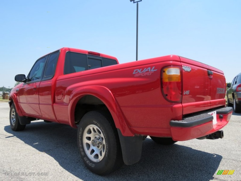 Performance red 2003 mazda b series truck b3000 cab plus dual sport exterior photo