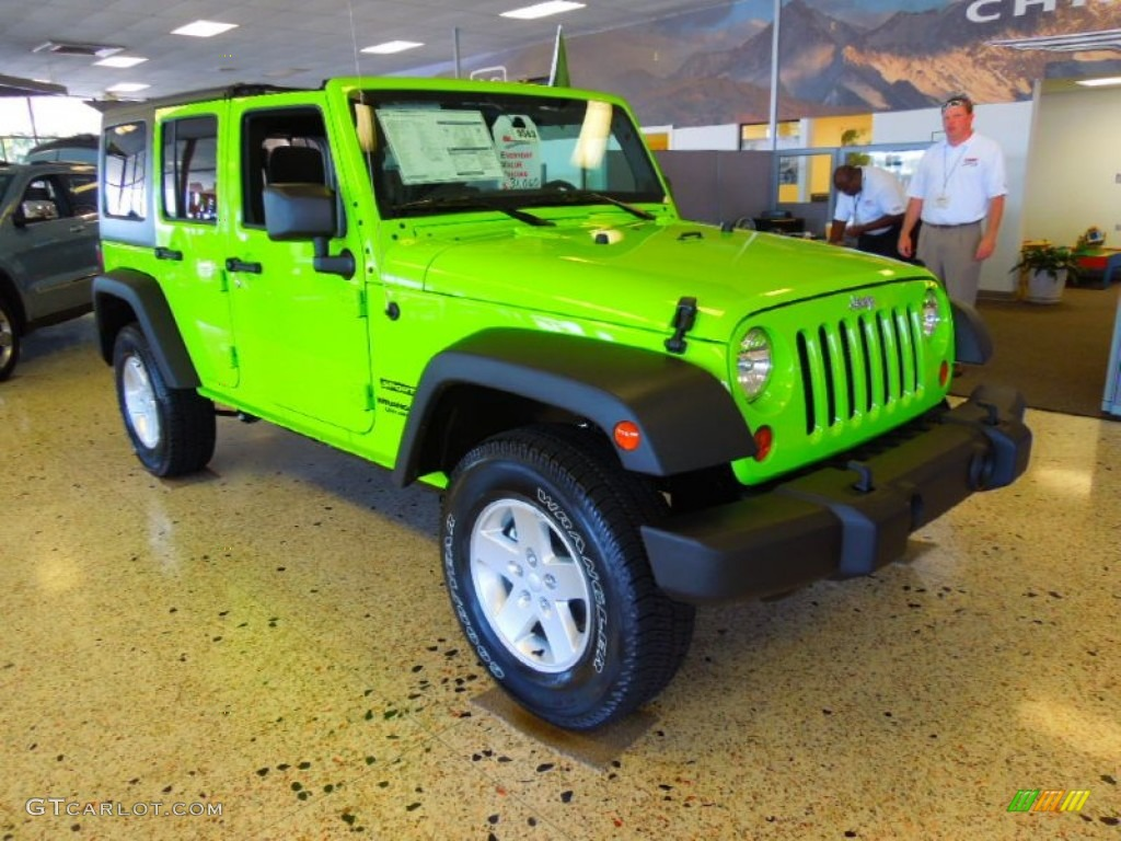 Gecko Green Jeep Wrangler Unlimited