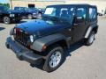 2012 Black Forest Green Pearl Jeep Wrangler Sport 4x4 #67213503