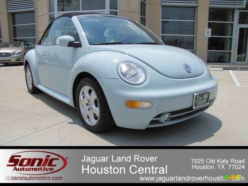 2003 New Beetle GLS Convertible - Aquarius Blue / Black photo #1