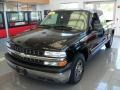 2002 Onyx Black Chevrolet Silverado 1500 Extended Cab  photo #1
