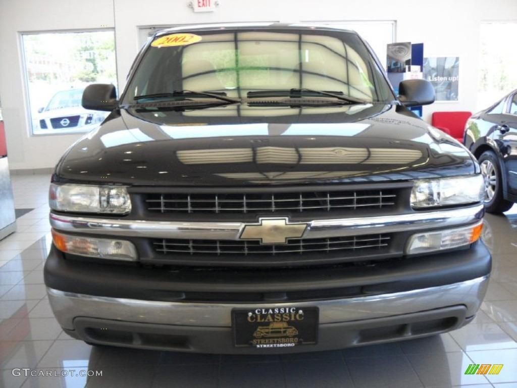 2002 Silverado 1500 Extended Cab - Onyx Black / Graphite Gray photo #3