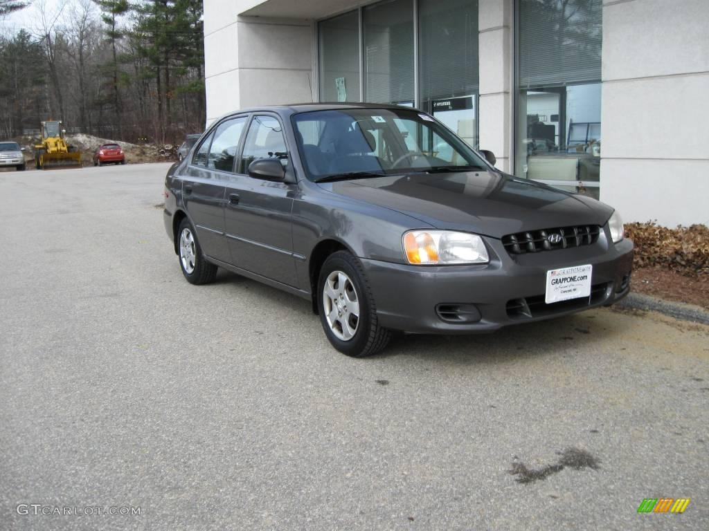 2000 charcoal gray hyundai accent gl sedan 6647054 On accent colors for charcoal gray