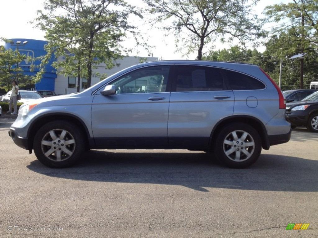 2009 CR-V EX-L 4WD - Glacier Blue Metallic / Gray photo #1