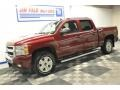 2009 Deep Ruby Red Metallic Chevrolet Silverado 1500 LT Z71 Crew Cab 4x4  photo #2