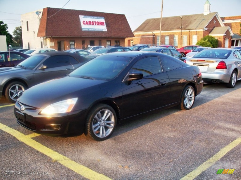 2003 nighthawk black pearl honda accord ex l coupe 67271307 car color galleries. Black Bedroom Furniture Sets. Home Design Ideas