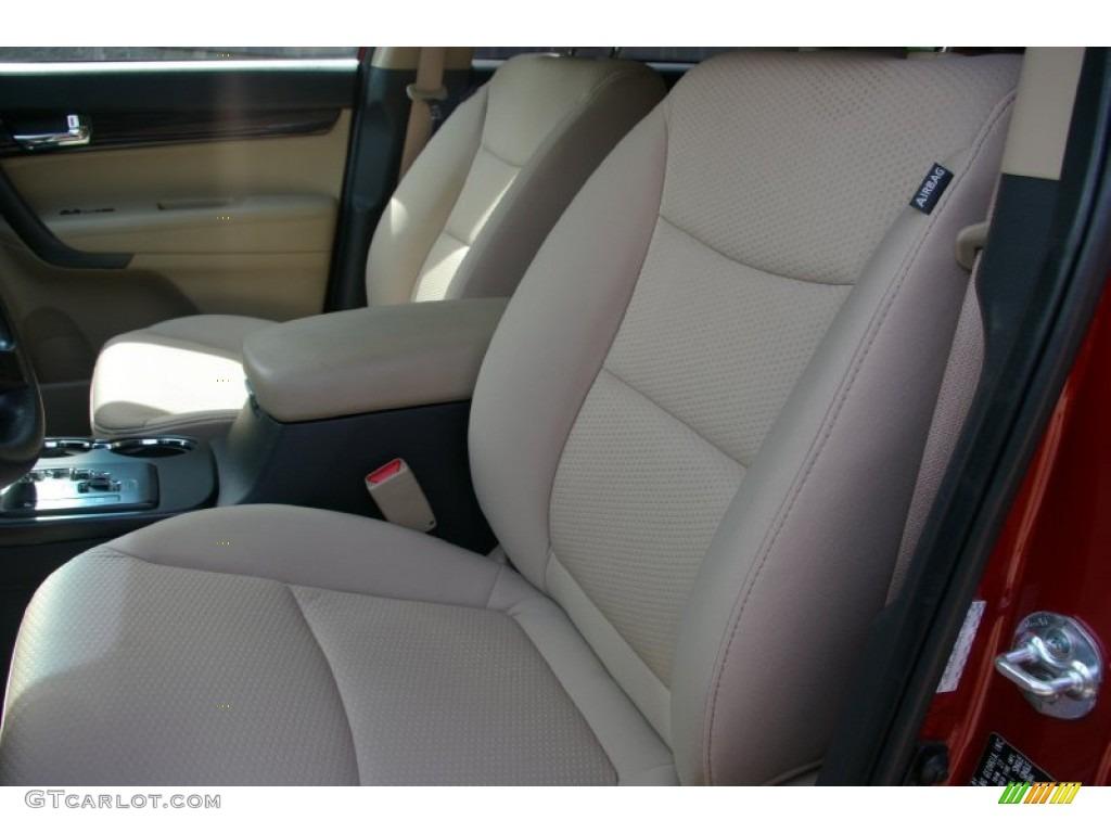 2011 Sorento LX V6 AWD - Spicy Red / Beige photo #3