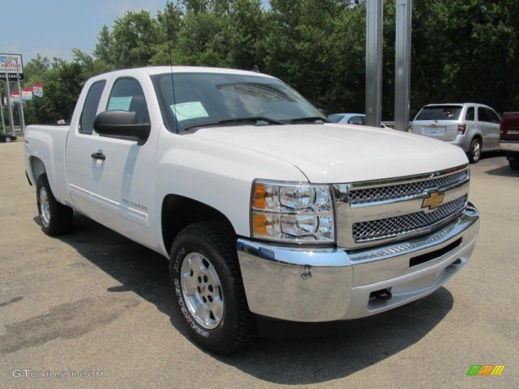 summit white 2013 chevrolet silverado 1500 lt extended cab 4x4 exterior photo 67344209. Black Bedroom Furniture Sets. Home Design Ideas