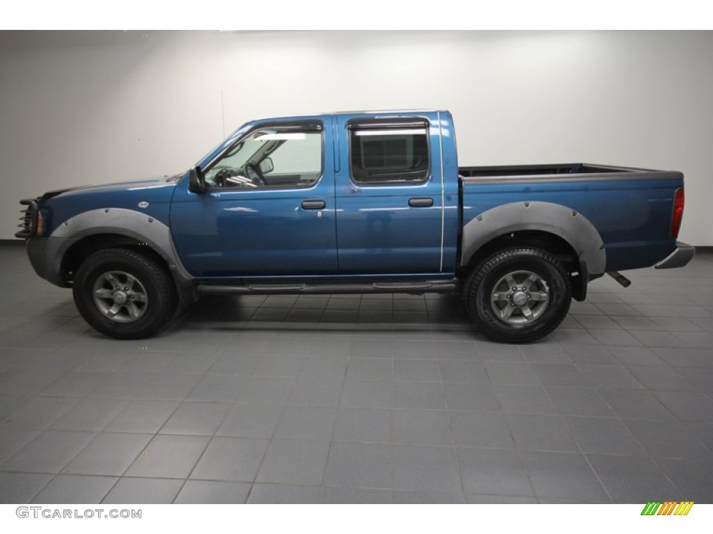 electric blue metallic 2003 nissan frontier xe v6 crew cab. Black Bedroom Furniture Sets. Home Design Ideas