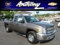 2012 Mocha Steel Metallic Chevrolet Silverado 1500 LS Extended Cab 4x4  photo #1