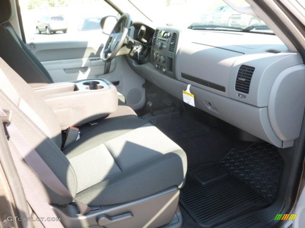 2012 Silverado 1500 LS Extended Cab 4x4 - Mocha Steel Metallic / Dark Titanium photo #10