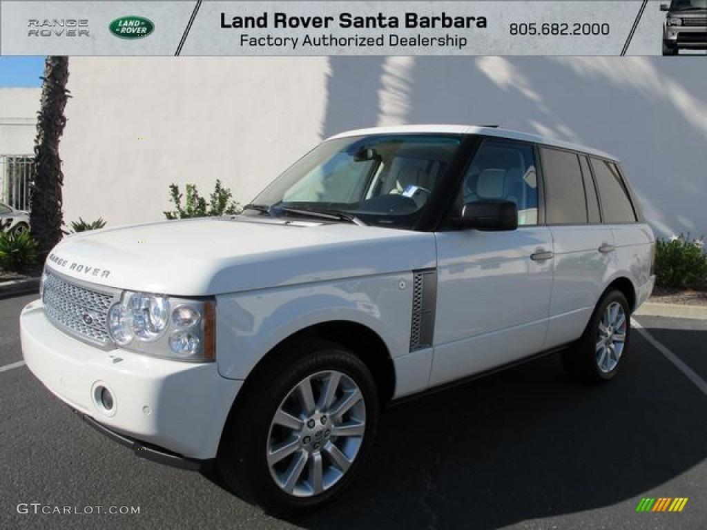 2007 Range Rover Supercharged - Chawton White / Ivory/Black photo #1