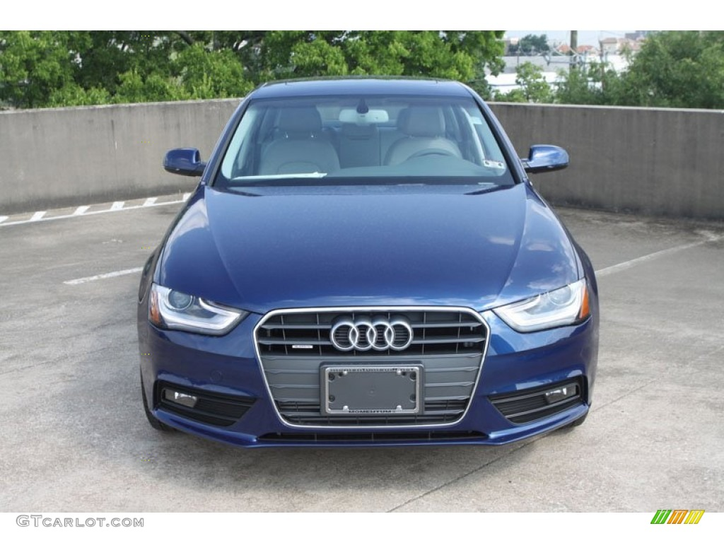 2013 a4 2 0t quattro sedan scuba blue metallic titanium gray photo 2