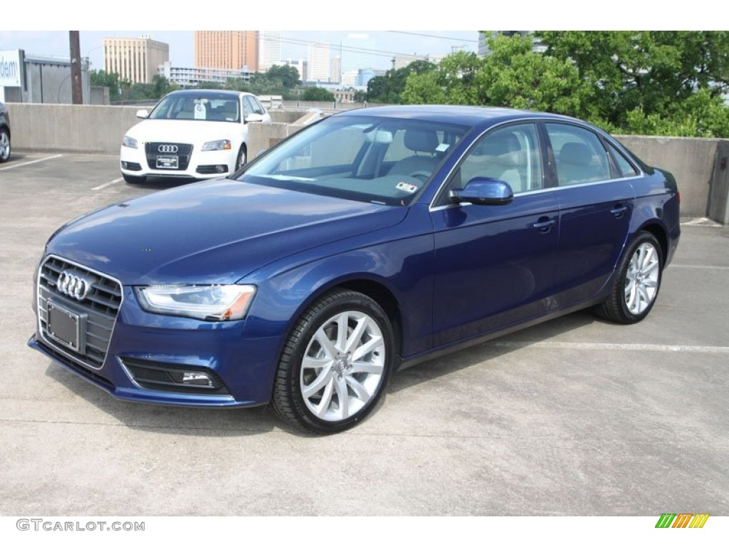 2013 a4 2 0t quattro sedan scuba blue metallic titanium gray photo 4
