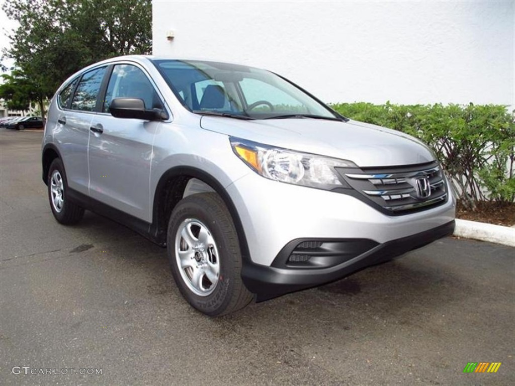 2012 CR-V LX - Alabaster Silver Metallic / Gray photo #1
