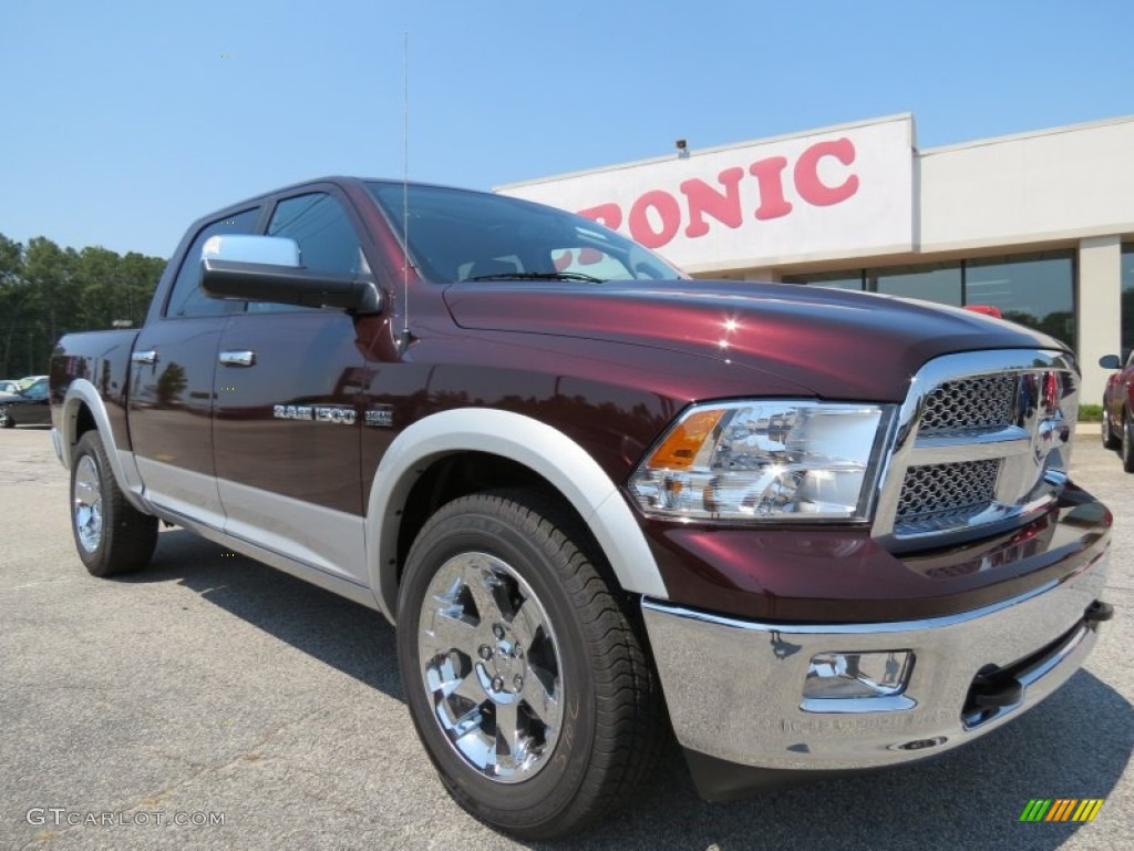 2012 Ram 1500 Laramie Crew Cab 4x4 - Deep Molten Red Pearl / Dark Slate Gray photo #1
