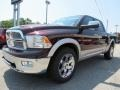 2012 Deep Molten Red Pearl Dodge Ram 1500 Laramie Crew Cab 4x4  photo #3