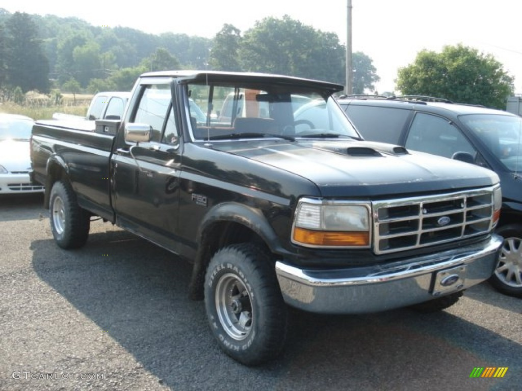 1993 Ford F150 Lightning Black 1995 Ford F150 XLT Regular Cab 4x4 Exterior Photo ...