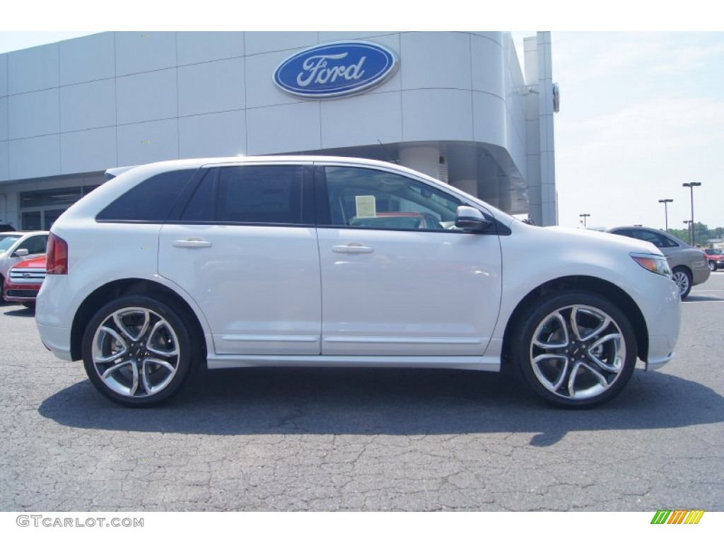white platinum tri coat 2013 ford edge sport exterior photo 67388036. Black Bedroom Furniture Sets. Home Design Ideas